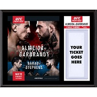"UFC Fight Thomas Almeida vs. Cody Garbrandt Dueling ""I Was There"" 12"" x 15"" Sublimated Plaque"