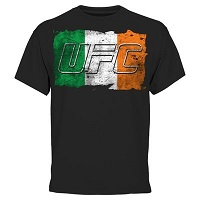 UFC Ireland Flag T-Shirt - Black