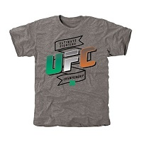 UFC Irish Colors Tri-Blend T-Shirt - Ash