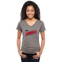 "UFC Ladies Anthony Johnson ""Rumble"" Tri-Blend V-Neck T-Shirt - Ash"