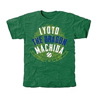 UFC Lyoto Machida Embattled Tri-Blend T-Shirt - Green