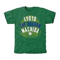 UFC Lyoto Machida Embattled Tri-Blend T-Shirt - Green