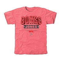 UFC Mens Jon Jones Bone Fist Tri-Blend T-Shirt - Pink
