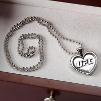 UFC Pewter Heart Pendant and Chain