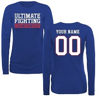 UFC Womens Personalized Legion Long Sleeve T-Shirt - Royal Blue