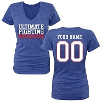 UFC Womens Personalized Legion V-neck Triblend - Royal Blue