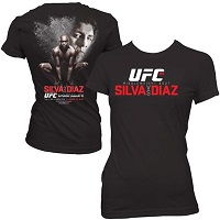 Women's Anderson Silva vs. Nick Diaz Black UFC 183 Event T-Shirt