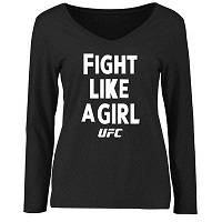 Women's Black UFC Fight Like A Girl 2015 Long Sleeve T-Shirt