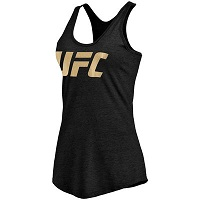 Women's Black UFC Gold Logo Tank Top