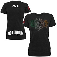 Women's Conor McGregor Reebok Black UFC Fight Night Boston Weigh-In T-Shirt