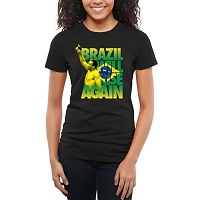 Women's Fabricio Werdum Black UFC Brazil Will Rise Slim Fit T-Shirt
