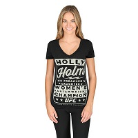 Women's Gray UFC Holly Holm Poster Tee
