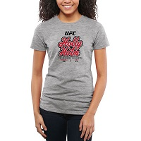 Women's Holly Holm Ash UFC 184 The Preacher's Daughter Slim Fit T-Shirt