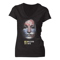 Women's Miesha Tate Black UFC 200 Face T-Shirt