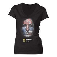 Women's Miesha Tate Black UFC 200 Face T-Shirt