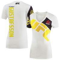 Women's Reebok Alexander Gustafsson Chalk/Yellow UFC Jersey