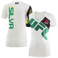 Women's Reebok Anderson Silva Chalk UFC Jersey