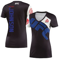 Women's Reebok Anthony Johnson Black UFC Jersey