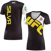 Women's Reebok Antonio Silva Black UFC Walkout Jersey
