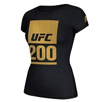 Women's Reebok Black UFC 200 T-Shirt
