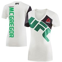 Women's Reebok Conor McGregor Chalk UFC Jersey