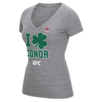Women's Reebok Conor McGregor Gray UFC I Clove Conor Tri-Blend T-Shirt