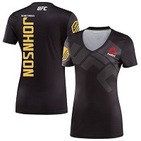 Women's Reebok Demetrious Johnson Black/Gray UFC Champion Jersey