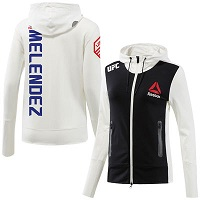 Women's Reebok Gilbert Melendez Chalk UFC Fight Night Walkout Hoodie