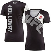 Women's Reebok Max Holloway Black/Gray UFC Jersey