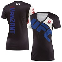 Women's Reebok Paige VanZant Black/Blue UFC Jersey