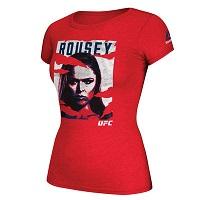 Women's Reebok Ronda Rousey Red 2016 UFC International Fight Week Poster T-Shirt