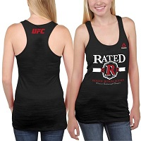 "Women's Reebok ""Rowdy"" Ronda Rousey Black UFC 184 Weigh-In Tank Top"