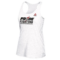 Women's Reebok White 2016 UFC Internatioal Fight Week Pride Fist Tri-Blend Racerback Tank Top