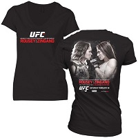 Women's Ronda Rousey vs. Cat Zingano Black UFC 184 Event T-Shirt