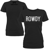 Women's 'Rowdy' Ronda Rousey Black UFC 184 Walkout T-Shirt