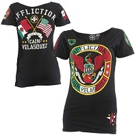 Women's UFC 180 Cain Velasquez Affliction Black Walkout T-Shirt