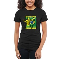 Women's UFC Black Brazil Will Rise Aldo Slim Fit T-Shirt