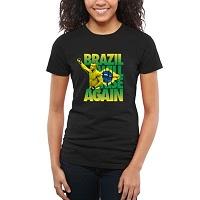 Women's UFC Black Brazil Will Rise Belfort Slim Fit T-Shirt