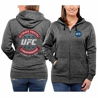 Women's UFC Black Fight Club Too Full Zip Sweatshirt