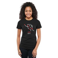 Womens UFC Judo Discipline Slim Fit T-Shirt - Black