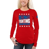 Women's UFC Red Glory Long-Sleeve T-Shirt