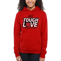 Women's UFC Red Tough Love Hoodie