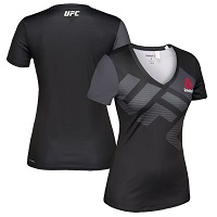 Women's UFC Reebok Black/Gold Jersey