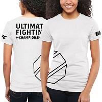 Women's UFC White Paisley T-Shirt