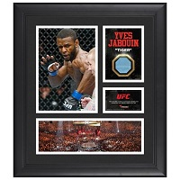 Yves Jabouin Ultimate Fighting Championship Framed 15'' x 17'' Collage with Piece of Match-Used Canvas from UFC 129