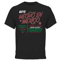 Men's Black UFC 188 Hecho en Mexico T-Shirt