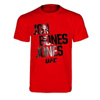 Jon Bones Jones Shadow Face T-Shirt - Red