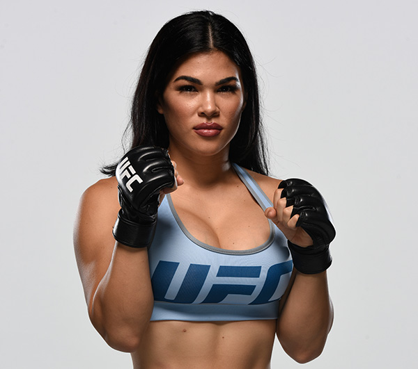 Rachael Ostovich-Berdon poses for a portrait during the filming of The Ultimate Fighter