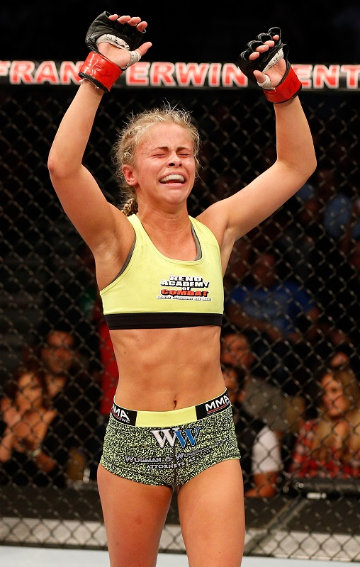 VanZant celebrates win