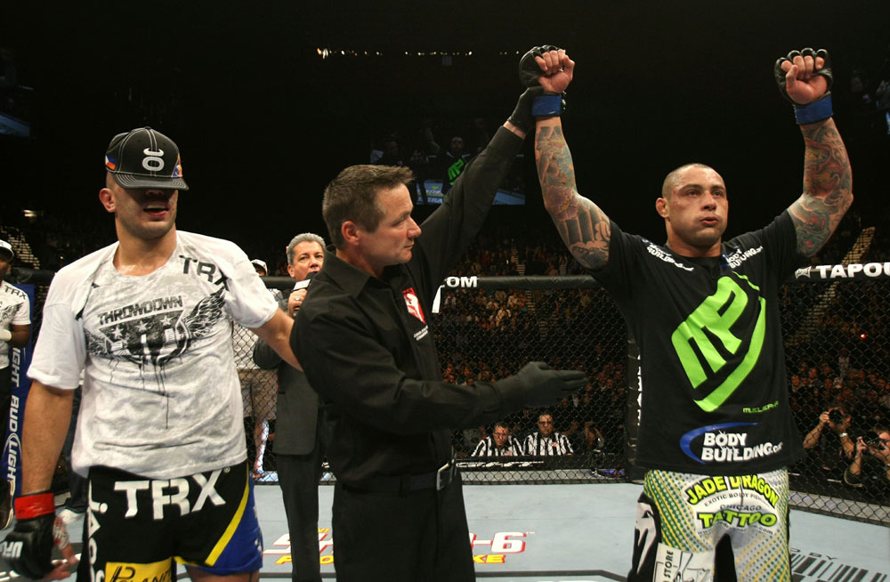 UFC 125: Thiago Silva celebrates his win over Brandon Vera.